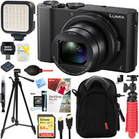 Panasonic LUMIX LX10 20.1 MP Digital Camera (Black) + 64GB Deluxe Bundle