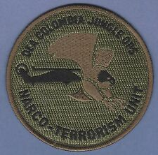 DEA COLOMBIA JUNGLE OPERATIONS NARCO-TERRORISM UNIT POLICE PATCH GREEN