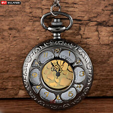 Necklace Vintage Pendant Steampunk Gift Antique Hollow Quartz Retro Pocket Watch