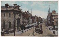 High Street Southampton 1917 Tram Postcard, B665