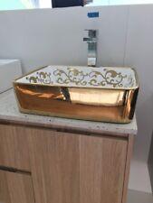 MODERN Ceramic Bathroom Sink Unit RECTANGLE Above Counter Top Vanity AAA 7050W