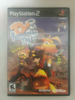 TY The Tasmanian Tiger 3 Night Of The Quinkan (PS2, 2005) Complete With Manual