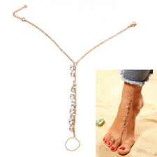 Crystal Barefoot Sandal Anklet Foot Chain Toe Ring Beach Ankle Bracelet Pip Spsp