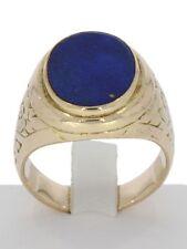 Echte Edelstein-Ringe aus Gelbgold mit Lapis Lazuli für Unisex
