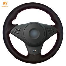 DIY Leather steering Wheel Cover for BMW E60 E63 E64 M5 2005-2008 M6 #0110