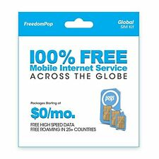 Freedompop Global Data W/ 3-In-1 Sim Kit New
