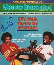 CW3 Autographed 1979 HEISMAN CHARLES WHITE USC 8X10 PHOTO