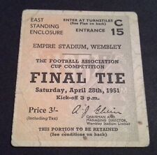 FA CUP FINAL TICKET 1951 3/- EAST STANDING ENCLOSURE (C15) BLACKPOOL NEWCASTLE