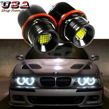 160W HID Matching White LED Angel Eyes Ring Marker Bulbs For BMW E39 E60 E63 E53