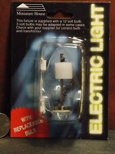 Dollhouse Miniature Electric Light Modern Table Lamp Pewter 1:12 inch scale J11