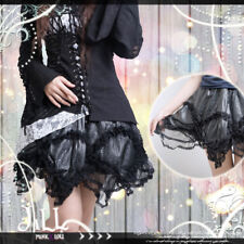 goth visual medea witch faux snake skin scalloped lace hem A-line skirt【JR21167】