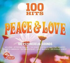100 HITS-PEACE &LOVE NEW DIGIPACK EDITION (JEFFERSON AIRPLANE,THE END) 5 CD NEUF