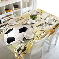 Black Football 3D Tablecloth Table cover Cloth Rectangle Wedding Party Banquet