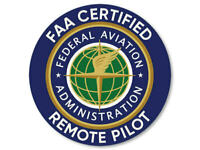"4"" FAA FEDERAL AVIATION CERTIFIED DRONE REMOTE PILOT STICKER DECAL USA MADE"