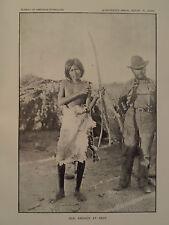 Young Seri Indian Archer Tiburón Island Gulf California Sonora Mexico 1897 GC