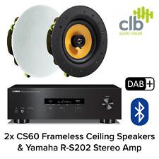 Inta Audio Yamaha R-S202 Home Hi-Fi Sound System - 2x Ceiling Speakers