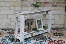 White Farmhouse 46'' Console