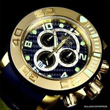 Invicta Sea Hunter 58mm Gold Tone Rubber 0415 Swiss Made Chronograph Watch New