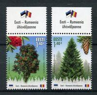 Estonia 2017 MNH Forest Trees Norway Spruce Rowan JIS Romania 2v Set Stamps