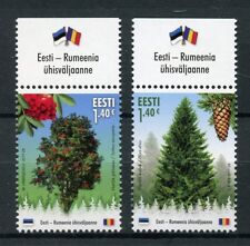 Estonia 2017 MNH Forest Trees Norway Spruce Rowan JIS Romania 2v Set Stamps