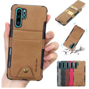 Für Huawei P20 P30 Pro Lite Handy Tasche Schutzhülle Card Case Cover Wallet Etui