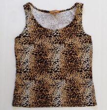 2165df36dc0d Women's Ellen Tracy Tank Top Size M Medium Animal Print Scoop Neck Stretch  Shirt