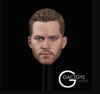 """1/6 Paul Walker Male head GC028 for 12"""" male figure phicen hot toys ganghood"""