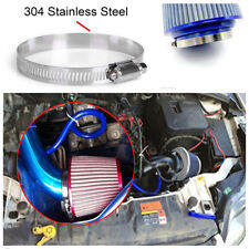 """Vehicle Car Cold Air Intake Filter Cleaner 3"""" 75mm Dual Funnel Adapter Blue+Red"""