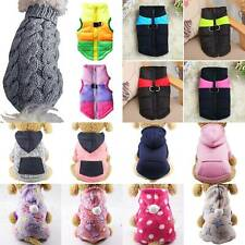 Pet Clothes Puppy Dog Cat Hoodie Winter Warm Jumper Sweater Padded Jacket Coats