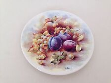 Poole Pottery Collectors Plate Still Life of Fruits Plum Pattern by D. Wallace