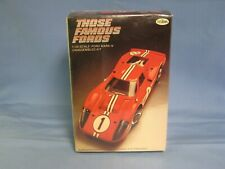 NEW SEALED Testors Those Famous Fords Ford Mark IV Model Car Kit #117 1/25 Scale