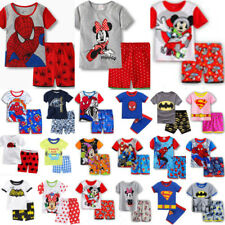 Boys Girls Kid Superhero Top Short Pant Pyjamas Set Sleepwear Mickey Mouse Print