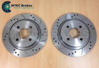 Ford Focus ST170 Performance Drilled & Grooved Rear Brake Discs