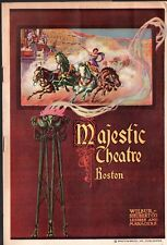 HIS MAJESTY BUNKER BEAN - Vintage 1916 Majestic Theatre Booklet - Boston MA
