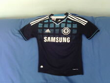 Boys 10 Years - Chelsea Football Shirt - Black - Kalou - Adidas