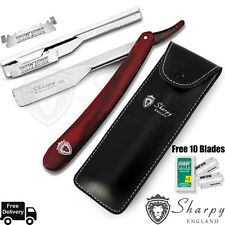 SHARPY_ BARBER SALON STRAIGHT CUT THROAT SHAVING RAZOR RASOIRS RASOI + 10 BLADES