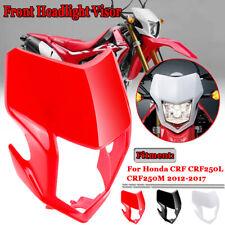 For Honda CRF250L / M 2012-2017 Front Light Cowl Healight Visor Fairing