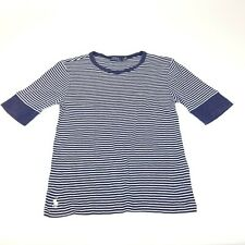 POLO RALPH LAUREN sz S Navy White Striped Red Polo Pony Top Crew Neck Tee Shirt