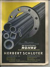 1954 Herbert Schlüter TUBI Amburgo Düsseldorf prospetto catalogo listino prezzi antico