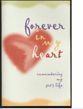Forever In My Heart Remembering My Pet's Life Memorial Booklet Dog Cat Journal