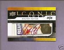 2008 UPPER DECK ICONIC CUTS WALTER PAYTON AUTO #2/14