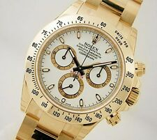 Rolex Cosmograph DAYTONA 116508 Mens 18K Yellow Gold White Index Dial 40MM