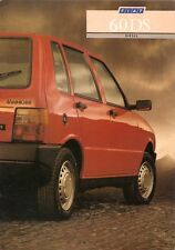 Fiat Uno 60 DS 1987-88 UK Market Foldout Sales Brochure
