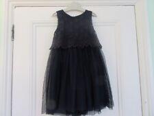 3-4 yrs: Lovely summer party dress: Navy blue: Net skirt/ crochet top: Next
