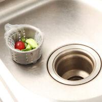 Lot de 100 Sacs de Filtre jetables pour évier de Cuisine et Salle de Bain