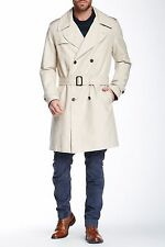 NWT GANT by Michael Bastian M Classic Honey Tan Cotton Trench Coat Plaid Lined