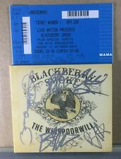 Blackberry Smoke - Whippoorwill (2014) Autographed + Ticket