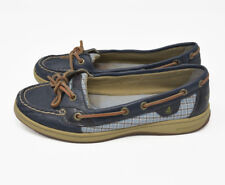 Sperry Women's Sz 8M Blue Leather / Synthetic Upper Slip On Loafer Boat Shoes