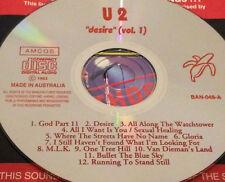 U2 Desire Vol. 1 Australian Live CD Rare 1993 Bono Gloria M.L.K. One Tree Hill