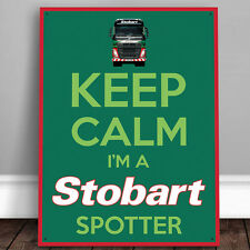 Eddie Stobart Keep Calm Metal Wall Sign Officially Licensed Image Gift 50017